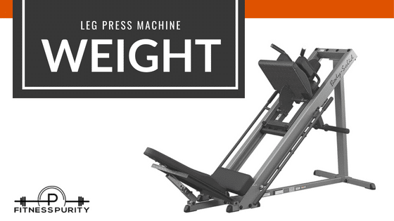how much does a leg press machine's sled weigh