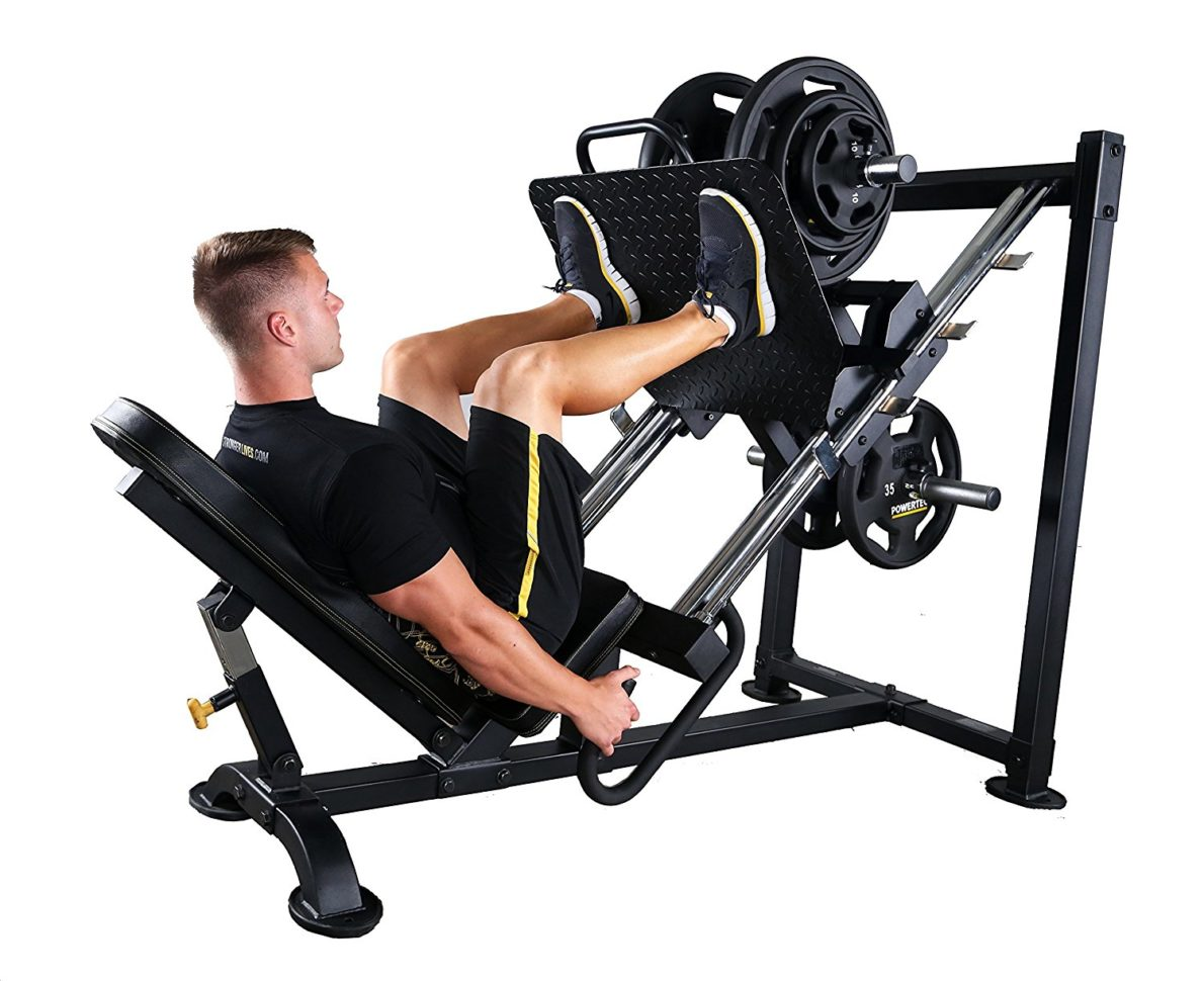 normal 45 deg angle leg press machine