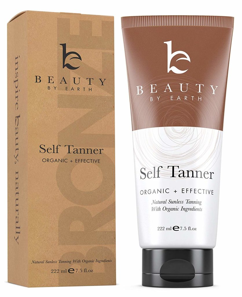 self tanning lotion from beauty and earth