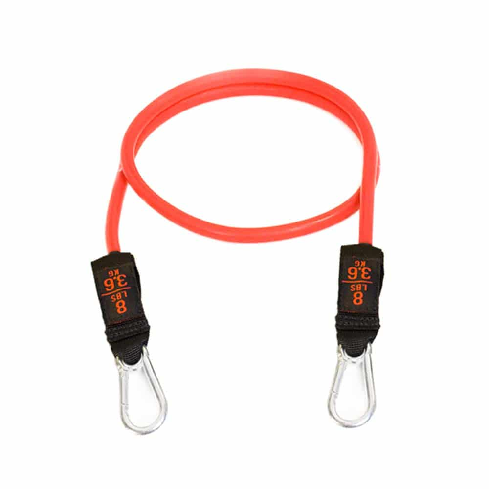 Tube resistance bands with clips